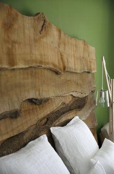 T te de lit avec des planches 2 - Tete de lit planche bois ...