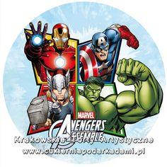 081. Fototort z superbohaterami Avengers. Avengers photocake.