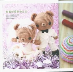 Amigurumi Cute Bear Wedding Couple - FREE Crochet Pattern / Tutorial