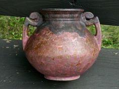 Outstanding Rosevile Carnelian II Handled Urn Vase Raspberry Over Green Glaze   eBay