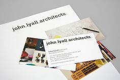 John Lyall Architects - Business Card Design Inspiration | Card Nerd