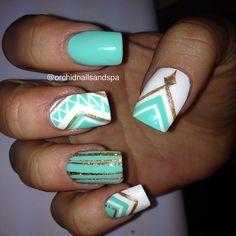 Instagram photo by orchidnailsandspa #nail #nails #nailart | See more nail designs at http://www.nailsss.com/acrylic-nails-ideas/2/