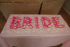"bridal shower ""Bride"" cupcakes"
