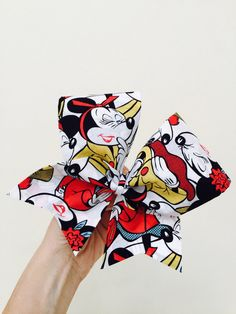 Fancy Minnie Mouse Cheer Bow