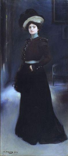 The Athenaeum - Portrait of Isabel Llorach (Ramon Casas y Carbó - ) Spanish Painters, Spanish Artists, Art Nouveau, Ramones, Belle Epoque, Modernisme, Found Art, Classic Paintings, Midsummer Nights Dream