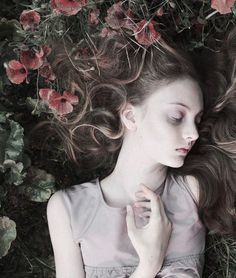 fine art portrait: Codie Young is a sleeping beauty in 'Once Upon A Time' by Camille Vivier for Lula F/W 2011 Poses, Portrait Photography, Fashion Photography, Photography Flowers, Prince Charmant, My Champion, Her Hair, Character Inspiration, The Dreamers