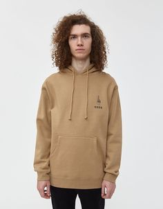 Buy the NEED Crossed Fingers Graphic Hoodie in Sandstone at Need Supply Co. Need Supply Co, Crossed Fingers, Kangaroo Pouch, Twill Pants, Sweater Shirt, Hooded Sweatshirts, Hoods, Long Sleeve Shirts, Pullover