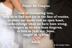 Prayer for dating couples catholic