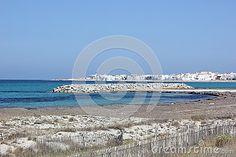It is in Tunisia. Sea, beach and rocks