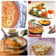 Recetas de quiches, quiche de jamón y queso, quiche de espinacas, quiche de calabacín, quiche Lorraine y quiche de pollo y verduras