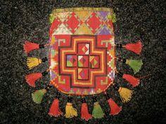 Uzbek bag, lakai silk embroidery 19th