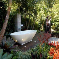 Backyard bathtub