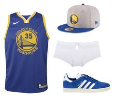 The Sporty Girl by boudoirbyolin on Polyvore featuring Cosabella, adidas Originals, New Era and NIKE