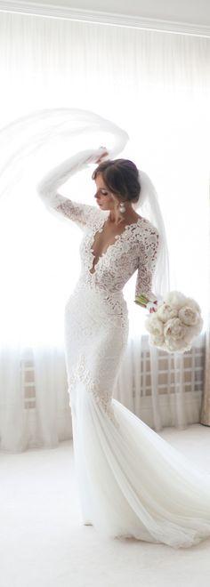 Gorgeous 87 Stunning Long Sleeve Wedding Dresses https://bitecloth.com/2017/09/04/87-stunning-long-sleeve-wedding-dresses/
