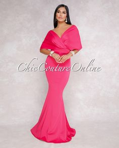 Chic Couture Online - Flore Fuchsia Off The Shoulder Mermaid Maxi Dress,  (http://www.chiccoutureonline.com/flore-fuchsia-off-the-shoulder-mermaid-maxi-dress/)