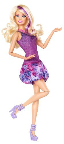 Barbie Fashionista Barbie Doll - Purple Dress - List price: $22.00 Price: $20.99 Saving: $1.01 (5%)