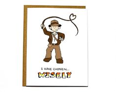 Indiana Jones funny Valentines Day card I by DarkroomandDearly
