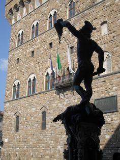 Benvenuto Cellini's Perseus with the Head of Medusa, Piazza della Signoria, Florence, Italy