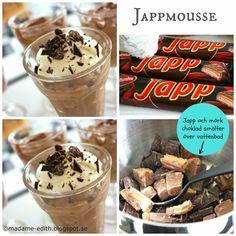 Jappmousse - Helt fantastiskt underbart god - Ni måste testa! ( Receptet ger 6-8 port. beroende på hur stora portioner man gör ) X-tra ...