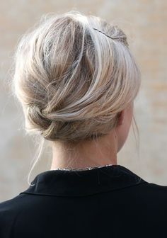 Keep your hairstyle of choice simple, yet chic with an easy messy tuck pin.