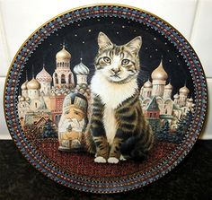Cats Around The World Lesley Anne Ivory Twiglet in Russia Danbury Mint Plate | eBay