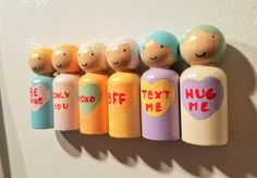 Sweetheart Peg Doll Fridge Magnet Wooden Peg Dolls Unique