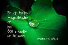 #mogelijkheden #rust #vreugde #emotie   Er zijn talrijke mogelijkheden om met één situatie om te gaan.  http://www.rustinjehoofd.be/