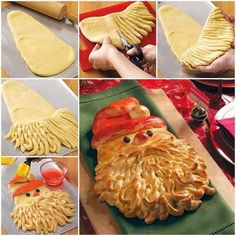 Funny pictures about Delicious Christmas Bread. Oh, and cool pics about Delicious Christmas Bread. Also, Delicious Christmas Bread photos. Santa Bread, Santa Pizza, Frozen Bread Dough, Christmas Bread, Father Christmas, Christmas Diy, Holiday Bread, Merry Christmas, Christmas Biscuits