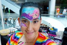 Mermaid face paint with water colors. This face paint was inspired by the talented Noelle Perry. Mermaid Face Paint, Carnival, Water Colors, Painting, Inspiration, Inspired, Biblical Inspiration, Carnavals, Painting Art