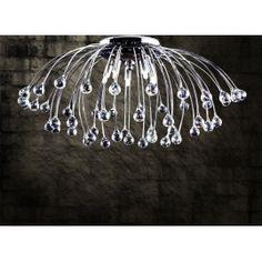PLAFONIERA PISTILLO CON SFERE DI CRISTALLO CEILING LAMP WITH CRYSTAL SPHERES