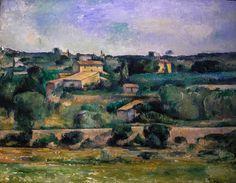 Paul Cezanne - Landscape near Aix-en-Provence, 1879 at Wallraf-Richartz Museum Cologne Germany