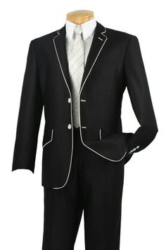 Homecoming black tux with white tie