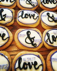 wedding iced sugar cookies