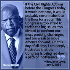 I've always liked Rep. Lewis since becoming interested in our gov't, politics, and country.