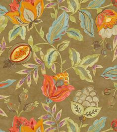 Waverly Print Fabric-Modern Poetic/Flaxseed
