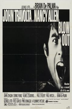 US one sheet for BLOW OUT (Brian De Palma, USA, 1981) Designer: uncredited Poster source: Heritage Auctions BLOW OUT plays in 35mm at the New York Film Festival tomorrow night.