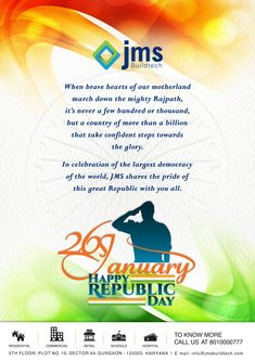 Let us remember the golden heritage of our country and feel proud to be a part of India. HAPPY REPUBLIC DAY!!