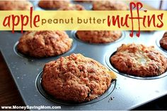 Apple Peanut Butter Muffins - The only PB in these are the chips, so substitute Aldi butterscotch chips (which are supposed to be safe). I think it would taste much better than PB anyway. More like caramel apple.