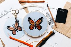 Embroidery Kits, Create Your Own, Fabric, Pattern, Diy, Accessories, Tejido, Tela, Bricolage