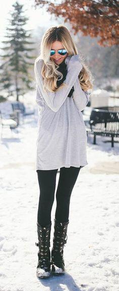 #winter #fashion / oversized knit