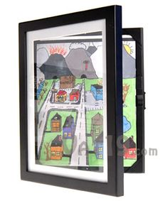 Holds up to 50 pieces of your kids artwork for display.