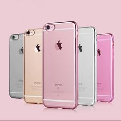 Fits IPhone TPU Soft Bling Glitter Shock Proof Silicone Case  Plating Frame .30