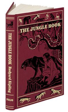 """""""The Jungle Book"""" by Rudyard Kipling. Artwork by Maurice and Edward J. Detmold. Published by The Folio Society."""