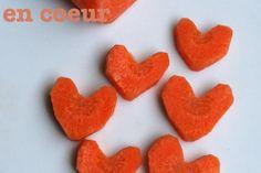Découpez vos carottes en forme de coeur