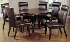 Shop for Hillsdale Furniture Nottingham Dining Set, and other Dining Room Sets at Love's Bedding and Furniture in Claremont, NH. Dining Room Sets, Round Pedestal Dining Table, Round Dining Set, Walnut Dining Table, 7 Piece Dining Set, Dining Table In Kitchen, Dining Room Design, Round Kitchen, Kitchen Sets