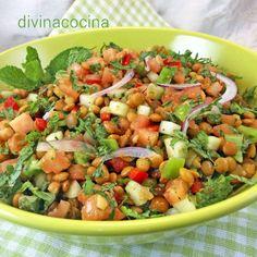 You searched for Tabulé lentejas - Divina Cocina Healthy Crockpot Recipes, Healthy Eating Recipes, Beef Recipes, Salad Recipes, Vegetarian Recipes, Cooking Recipes, Vegan Recepies, Avacado Dinner, Coliflower Recipes