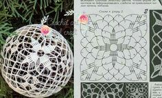wera's media content and analytics. Christmas Tree Baubles, Crochet Christmas Ornaments, Christmas Crochet Patterns, Crochet Snowflakes, Handmade Ornaments, Christmas Crafts, Free Crochet Doily Patterns, Beading Patterns Free, Crochet Doily Rug