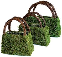 Super Moss Products Deco Purse Wicker Handle Set, Pack of 3 ** See this awesome image : Gardening Tools Metal Wall Planters, Corten Steel Planters, Cedar Planters, Wood Planter Box, Window Planter Boxes, Hanging Planters, Planter Pots, Deco Floral, Arte Floral