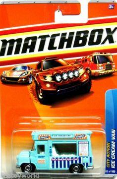 Matchbox 2010 Ice Cream Van City Action #63/100 BLUE  Like/want, NEED!!! si alguien ve uno de estos a la venta por favoooor...avíseme...es el crush de mi vida!!!