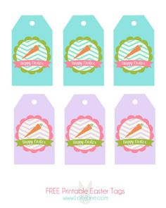 Free easter printable vintage easter tags happy easter free happy easter tags free printable negle Images